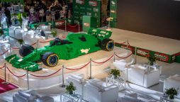 500,000 bricks were used to build the world's largest Lego Formula 1 car