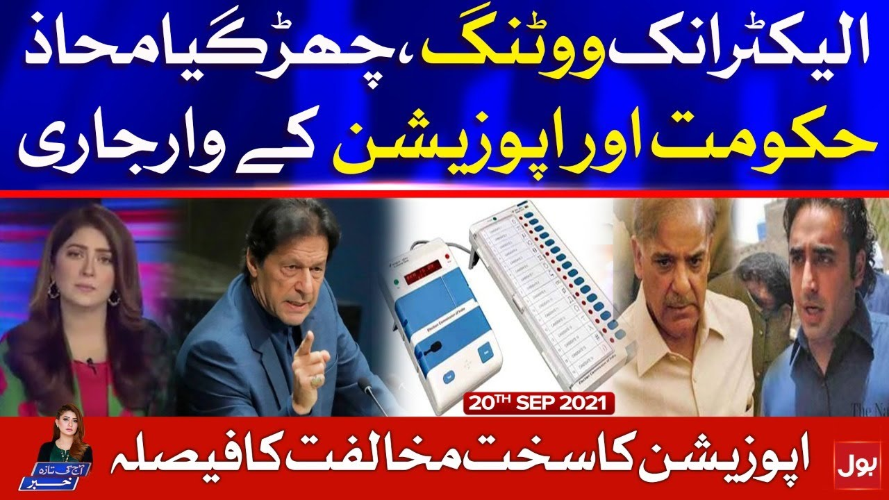 PTI Government And EVM vs Opposition | Aaj Ki Taaza Khabar | Summaiya Rizwan | 20 Sep 2021