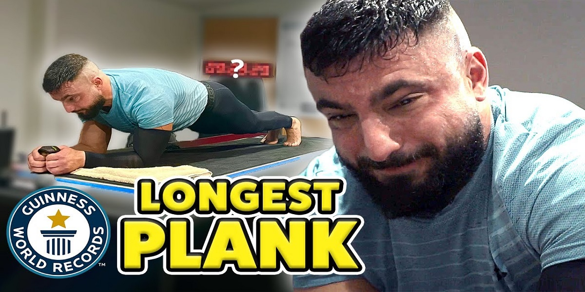 Athlete keeps plank position for more than 9 hours, breaks record