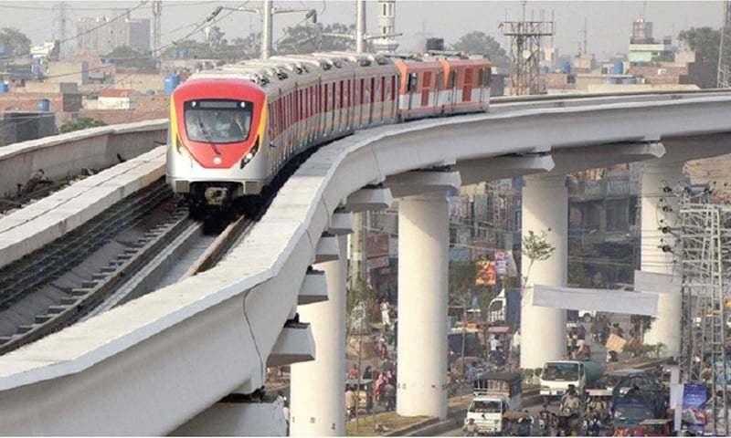 orange train line