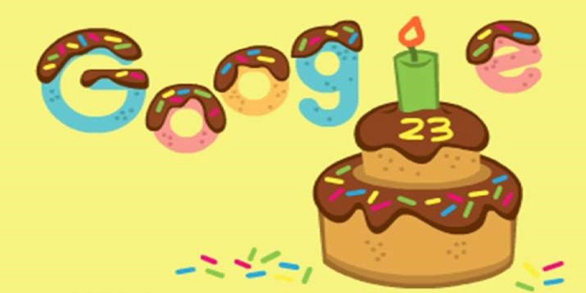 Google is celebrating its 23rd birthday with an animated doodle