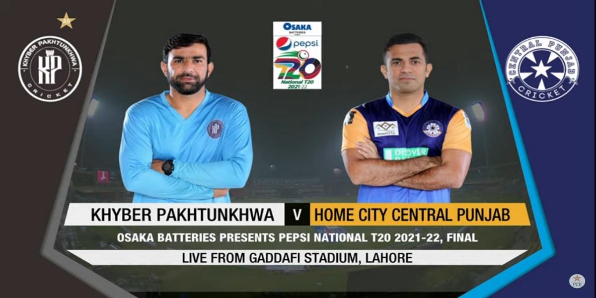 National T20 Cup: Live | Khyber Pakhtunkhwa vs Central Punjab | Final