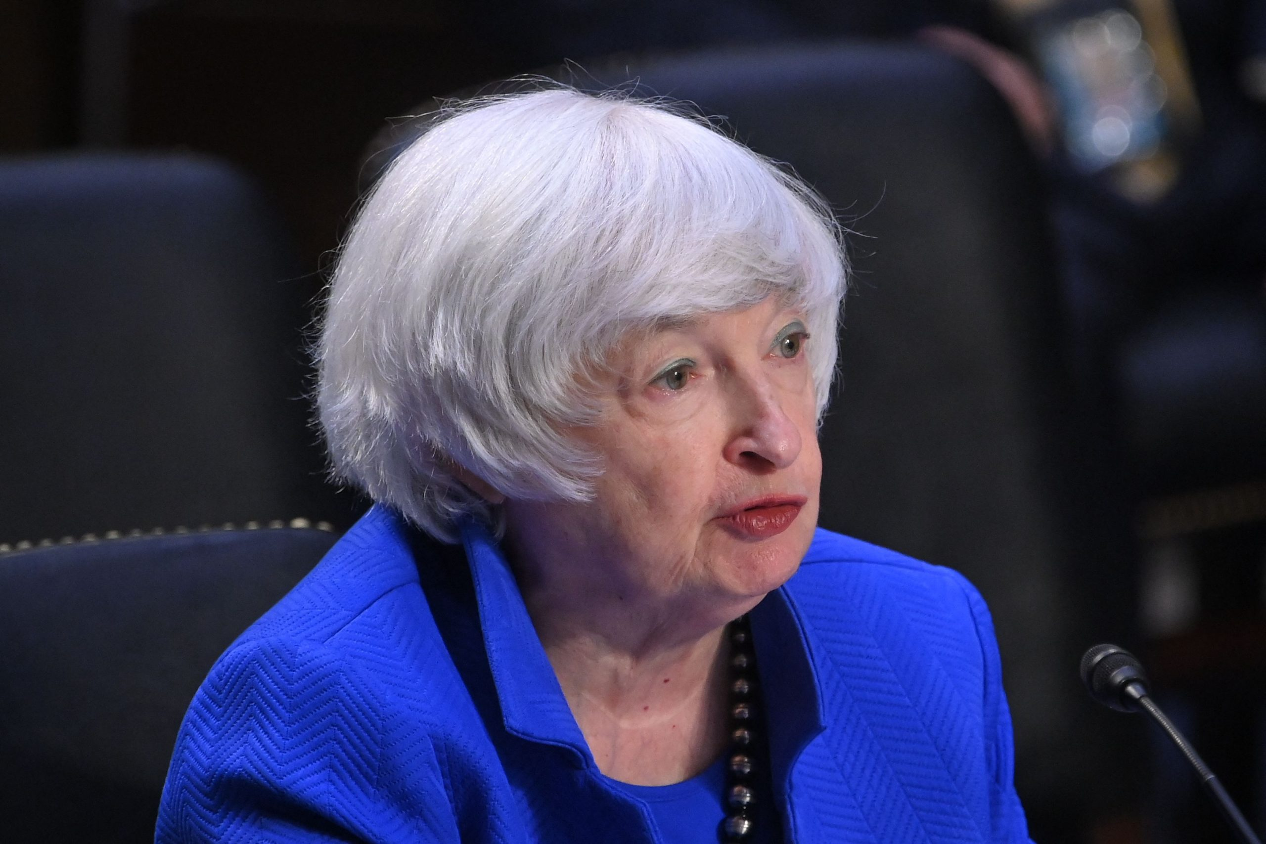 """US Treasury Secretary Janet Yellen said the economy is recovering, but the rebound is """"fragile"""""""