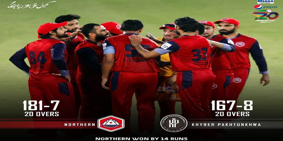 National T20 Cup: Northern beats Khyber Pakhtunkhwa by 14 runs