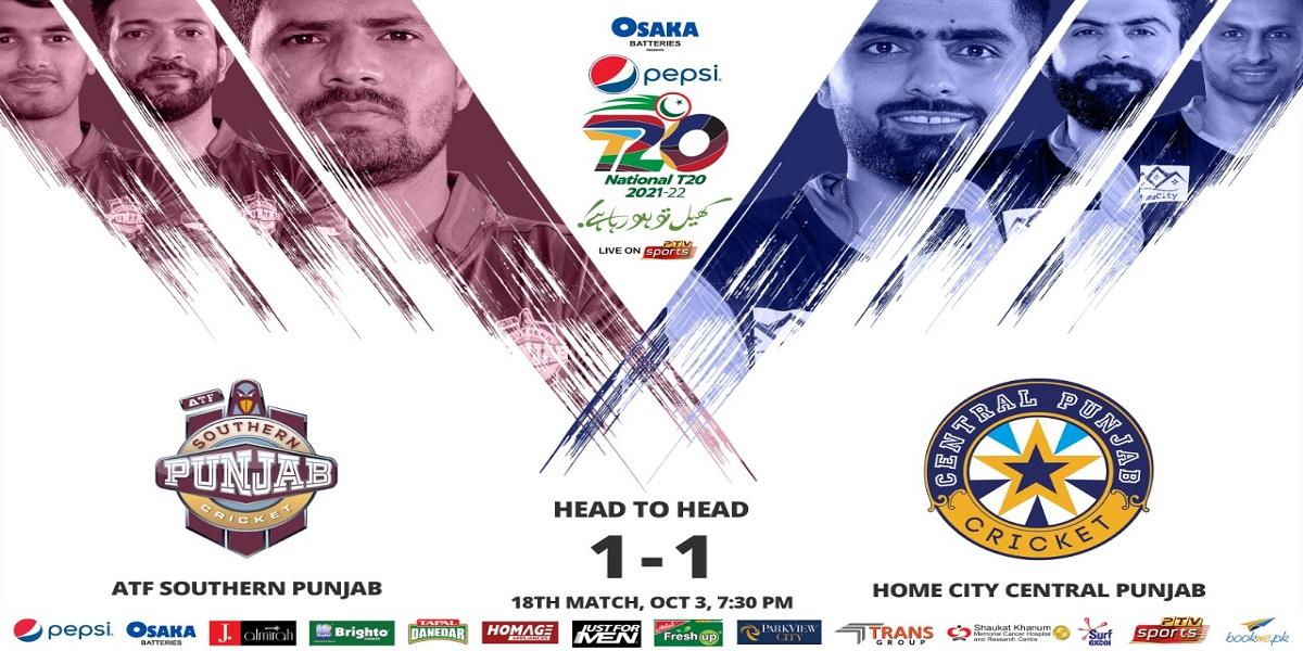National T20 Cup: Southern Punjab vs Central Punjab   Match 18   Live score