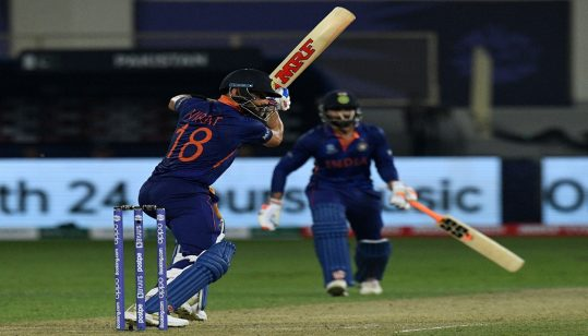 Afridi shines but Kohli guides India to 151-7 at T20 World Cup