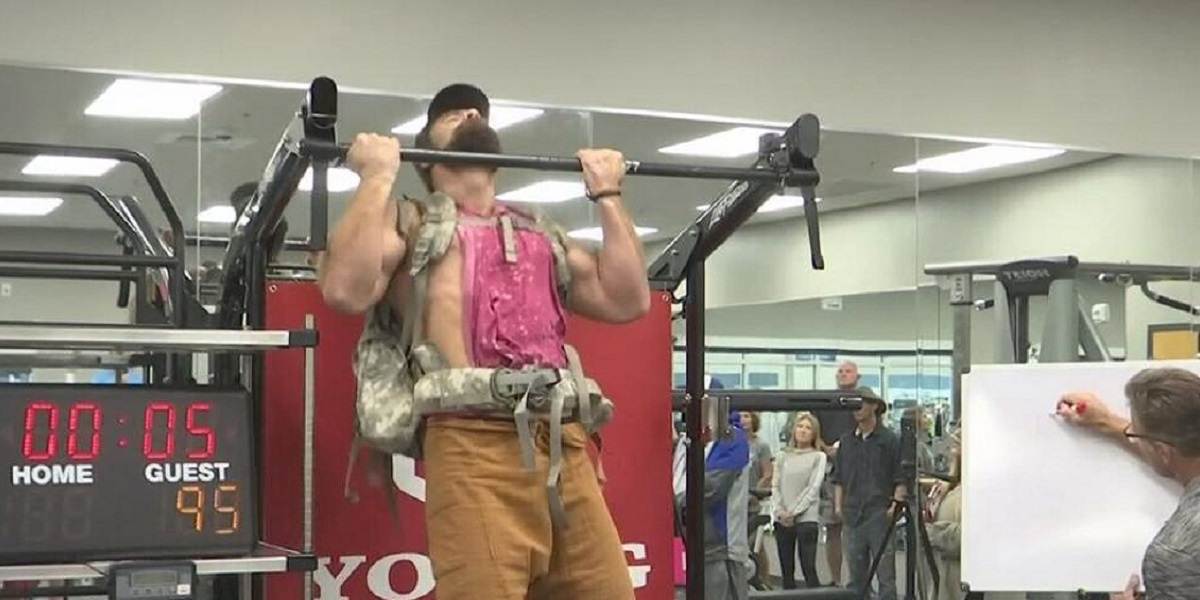 Alabama guy unofficially breaks the world record for chin-ups
