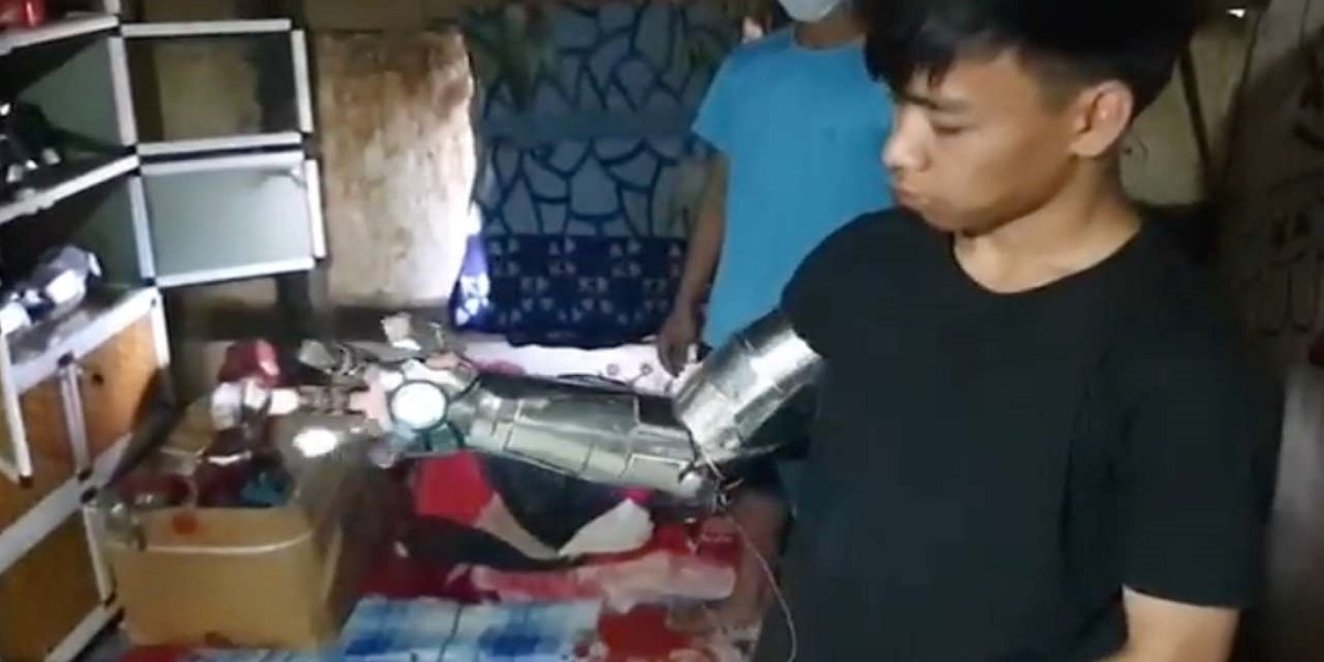 Watch: Guy of Manipur recreate Iron man suit from scrap