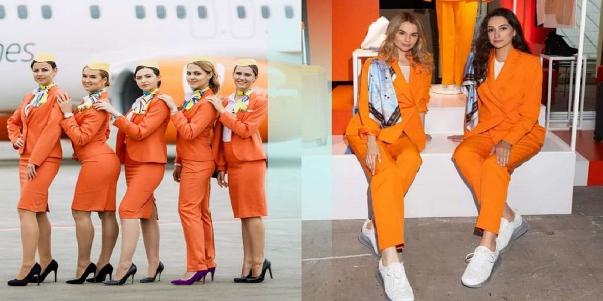 SkyUp Airline replace sneakers, trousers from High Heels, Pencil Skirts