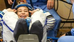 Russian crew to return to Earth after filming first movie in space