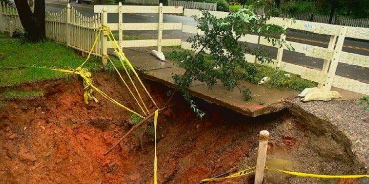North Carolina community are concerned as a sinkhole double in size