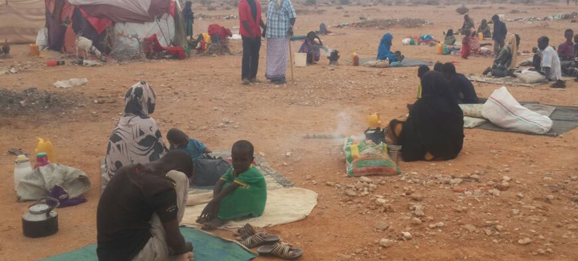 Somalian's displaced from their homes