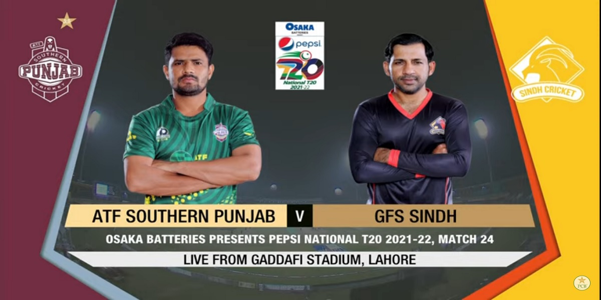 National T20 Cup: Live   Sindh vs Southern Punjab   Match 24