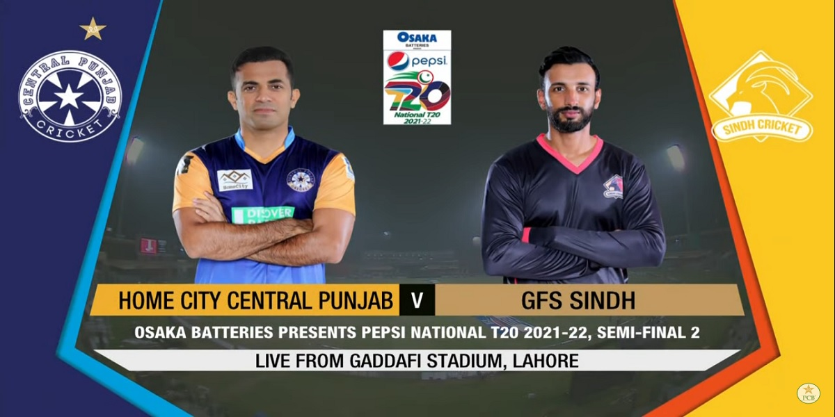 National T20 Cup: Live   Sindh vs Central Punjab   2nd Semi-Final