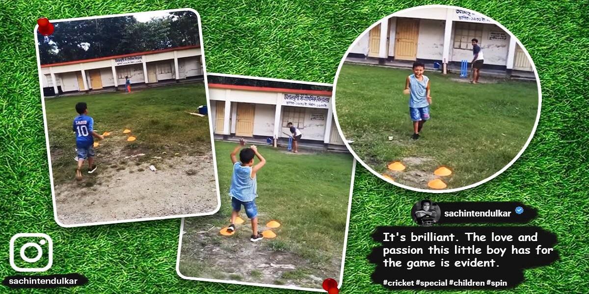 Watch: Sachin Tendulkar uploads a video of a 6-year-old spinner