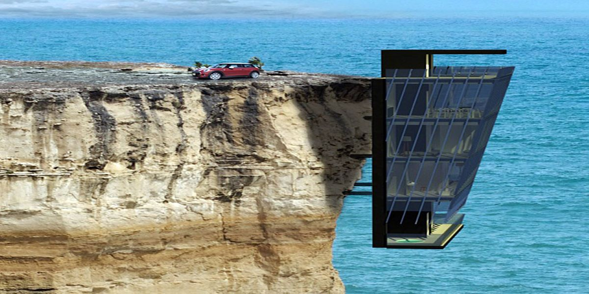 Vacation home in Australia clings to cliff