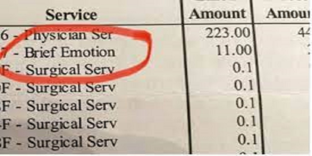 Viral tweet: A woman charged $11 for crying during surgery