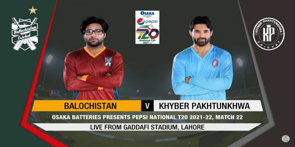 National T20 Cup: Live score   Khyber Pakhtunkhwa vs Balochistan   Match 22