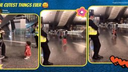 Toddler's polite gesture while saying goodbye has made netizens go 'aww'