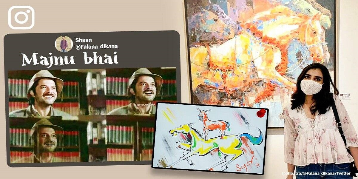 """Desi fan notices artwork that resembles Majnu Bhai's painting in the film """"Welcome"""""""