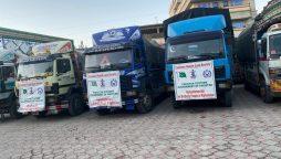 Pakistan send aid to Afghanistan