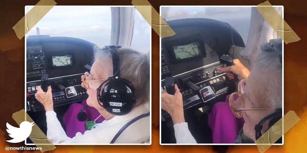Watch: 84-year-old pilot fulfills bucket-list wish, video leaves netizens emotional