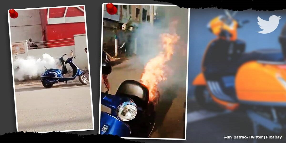 Immense smoke and fumes erupting from a scooter gone viral