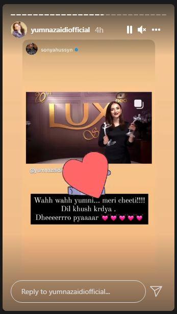 Yumna Zaidi LUX Style Awards